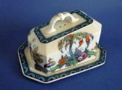 Large Keeling and Co 'Exotic' Losol Ware Cheese Dish c1915